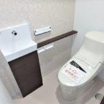 パークハイム牛田中 手洗いカウンター付きのトイレです