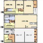 中区吉島西1丁目新築 建物面積153.89㎡。3LDK+WICの間取りです。