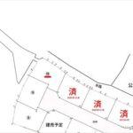 東区福田6丁目土地 敷地面積139.66㎡(42.24坪)です。(間取)