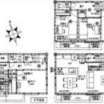 中区南千田東町新築 建物面積107.64㎡。3LDK+納戸の間取りです。