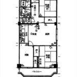 みゆきパークマンションB棟。専有面積73.68㎡。3LDKの間取りです。(間取)