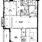 ウィングヒル神宮山 専有面積76.35㎡。2LDK+納戸の間取りです。
