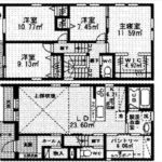 中区舟入南4丁目新築 建物面積109.31㎡。4LDK+WICの間取りです。