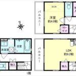 東区尾長東3丁目新築 建物面積62.64㎡。1LDK+納戸の間取りです。