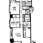 ダイアパレス宝町弐番館 専有面積75.32㎡。3LDK+WICの間取りです。(間取)