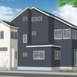 呉市焼山宮ヶ迫1丁目新築 外観パース。令和3年3月完成予定です。