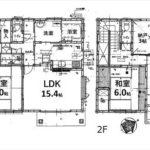 南区東本浦町中古 建物面積122.55㎡。3LDKの間取りです。