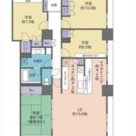 アーバンビュー渚ガーデンタワーヴィレッジ2番館 専有面積118.61㎡。4LDK+サブダイニング+WICの間取です。(間取)