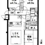 パークハウス東山サザンスクエア 専有面積67.31㎡。3LDKの間取りです。