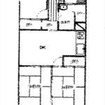 五日市中央パークマンション 専有面積61.60㎡。3DKの間取りです。