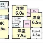 呉市焼山宮ヶ迫1丁目新築 建物面積110.12㎡。4LDK+小屋裏収納の間取りです。