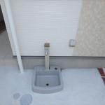 東区山根町新築 散水栓とコンセント