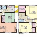 東区牛田東3丁目新築 建物面積103.94㎡。4LDK+WICの間取りです。