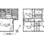 東区尾長東1丁目新築 建物面積105.05㎡。4LDK+WICの間取りです。