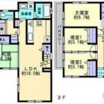 東区戸坂桜上町新築 建物面積101.43㎡。4LDK+WICの間取りです。