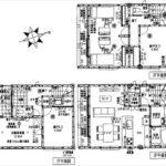 中区南千田東町新築 建物面積101.83㎡。2LDK+2納戸の間取りです。