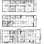 南区宇品西2丁目新築 建物面積124.47㎡。2LDK+納戸+2WICの間取りです。