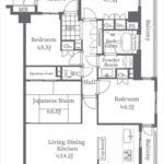 サーパス五日市南 専有面積89.24㎡。4LDK+サンルームの間取りです。