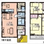 南区西本浦町新築 建物面積86.13㎡。3LDKの間取りです。
