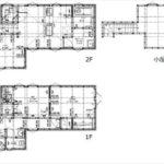 南区西翠町新築 建物面積70.70㎡。LDK+2納戸+小屋裏収納の間取りです。(間取)
