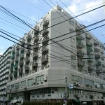 チサンマンション広島 外観。11階建てす。