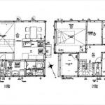 東区馬木2丁目新築 建物面積105.16㎡。4LDK+WICの間取りです。