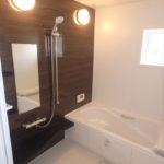 呉市焼山宮ヶ迫1丁目新築 清潔感の溢れるバスルーム