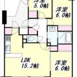 フローレンス祇園アヴェニュー 専有面積64.88㎡。3LDKの間取りです。