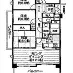 サーパス古江西町 専有面積84.66㎡。4LDKの間取りです。(間取)