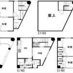 中区平野町中古 建物面積158.61㎡。5DKの間取りです。