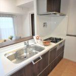 ヴェルパーク地御前 新設:食洗機付きのワイドシステムキッチン