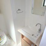 東区牛田南2丁目新築 2階トイレ手洗いカウンター