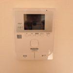 西条町西条新築 防犯に効果のあるTVモニター付きインターホン