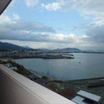 ヴェルパーク地御前 バルコニーからの眺望。高層階から海を眺められます(*^_^*)