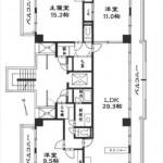 イトーピア橋本町マンション専有面積131.74㎡。3LDK+納戸の間取りです。(間取)