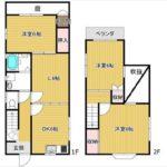 東区福田8丁目中古 建物面積71.01㎡。3LDKの間取りです。