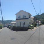 安佐南区山本新町5丁目中古 外観。両面道路となっています。