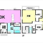 東区中山北町中古 建物面積108.68㎡。3LDK+WICの間取りです。