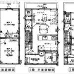南区北大河町新築 建物面積101.01㎡。1LDK+3納戸の間取です。
