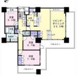 アーバンビューグランドタワー 専有面積101.04㎡。3LDK+WICの間取りです。(間取)