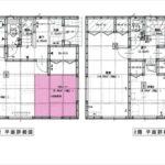 東区上温品3丁目新築 建物面積100.44㎡。3LDK+タタミコーナーの間取りです。(間取)