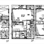 南区東本浦町新築 建物面積108.47㎡。4LDK+WICの間取りです。