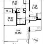ヴェルパーク東雲本町プログレス 専有面積68.96㎡。3LDK+WICの間取です。