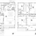 安芸区船越2丁目新築 建物面積107.64㎡。4LDK+納戸の間取りです。