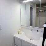 三篠公園パークホームズ 新設:三面鏡付き洗面化粧台