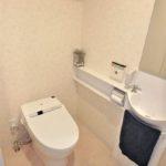 ハウスバーンフリート海田 トイレはお手入れしやすいタンクレスタイプ♪手洗いカウンターも付いています♪