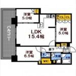シティタワー広島 専有面積70.03㎡。3LDK+WICの間取りです。