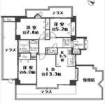 パークハイム牛田中 専有面積82.61㎡。3LDKの間取りです。(間取)