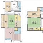 東区牛田早稲田2丁目中古 建物面積74.52㎡。5DKの間取りです。
