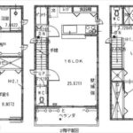 南区翠3丁目新築 建物面積105.98㎡。2LDK+3納戸の間取りです。(間取)